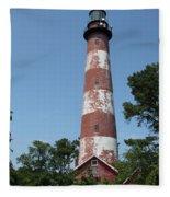 Assateague Lighthouse  Fleece Blanket