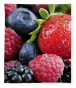 Assorted Fresh Berries Fleece Blanket