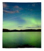 Aurora Borealis Northern Lights Display Fleece Blanket