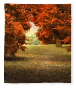 Autumn Ablaze Fleece Blanket
