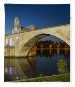 Avignon Bridge Fleece Blanket
