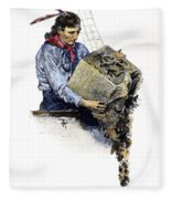 Boston Tea Party, 1773 Fleece Blanket