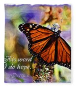 Butterfly Scripture Fleece Blanket
