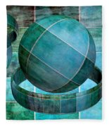 5 By 5 Ocean Geometric Shapes Fleece Blanket