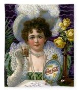 5 Cent Coca Cola - 1890 Fleece Blanket