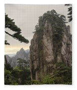 Chinese White Pine On Mt. Huangshan Fleece Blanket