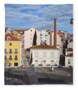 City Of Lisbon In Portugal Fleece Blanket
