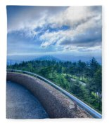 Clingmans Dome - Great Smoky Mountains National Park Fleece Blanket
