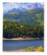 Crystal Lake On Pikes Peak Fleece Blanket