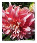 Dahlia Named Myrtle's Brandy Fleece Blanket