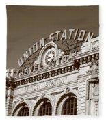 Denver - Union Station Fleece Blanket