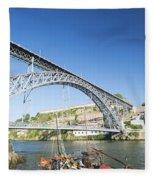 Dom Luis Bridge Porto Portugal Fleece Blanket