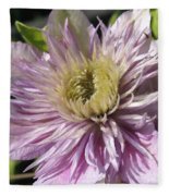 Double Clematis Named Empress Fleece Blanket