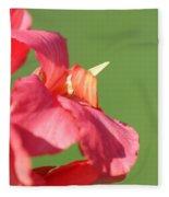 Dwarf Canna Lily Named Shining Pink Fleece Blanket