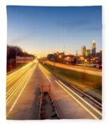 Early Morning In Charlotte Nc Fleece Blanket