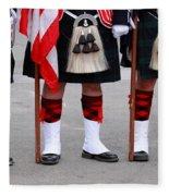 English Uniforms Fleece Blanket