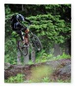 Extreme Biking In Alaska Fleece Blanket
