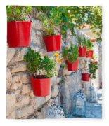 Flower Pots Fleece Blanket