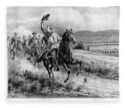 George Armstrong Custer (1839-1876) Fleece Blanket