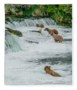 5 Grizzlies Fleece Blanket