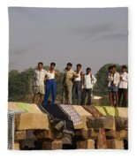 Hampi Ghats Fleece Blanket