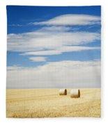 Hay Bales Fleece Blanket