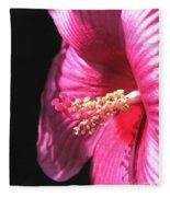 Hibiscus Named Luna Rose Fleece Blanket