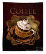 Cappuchino Coffee Gallery Fleece Blanket