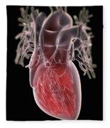 Human Heart Fleece Blanket