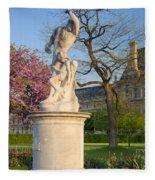 Jardin Des Tuileries Fleece Blanket