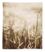 June Grass Flowering Fleece Blanket