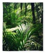 Jungle Leaves Fleece Blanket