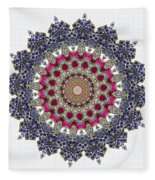 Kaleidoscope Colorful Jeweled Rhinestones Fleece Blanket