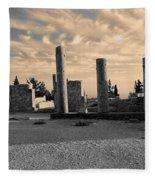 Kourion-temple Of Apollo Fleece Blanket