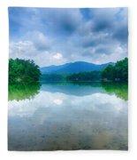 Lake Santeetlah In Great Smoky Mountains North Carolina Fleece Blanket