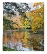Lazienki Park In Warsaw Fleece Blanket