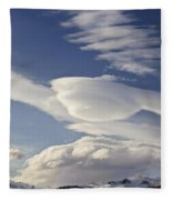 Lenticular Clouds Fleece Blanket