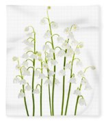 Lily-of-the-valley Flowers  Fleece Blanket