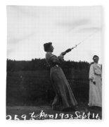 Mabel Hubbard Bell (1857-1923) Fleece Blanket