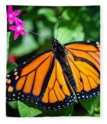 Monarch Danaus Plexippus Fleece Blanket