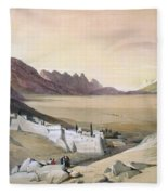 Mount Sinai Monastery Fleece Blanket