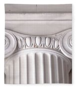 Neoclassical Ionic Architectural Details Fleece Blanket