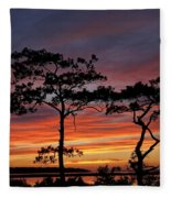 Outer Banks Sunset Fleece Blanket