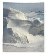 Pack Ice, Antarctica Fleece Blanket