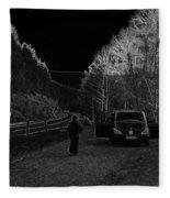 Parking Next To A Loch In The Scottish Highlands Fleece Blanket