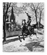 Paul Reveres Ride, 1775 Fleece Blanket