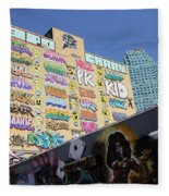 5 Pointz Graffiti Art 2 Fleece Blanket