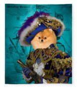 Pomeranian Art Canvas Print Fleece Blanket