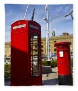 Post Box Phone Box Fleece Blanket
