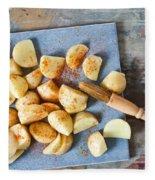 Potatoes Fleece Blanket